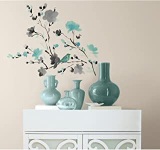 RoomMates Blossom Watercolor Bird Branch Peel And Stick Wall Decals - RMK2687SCS