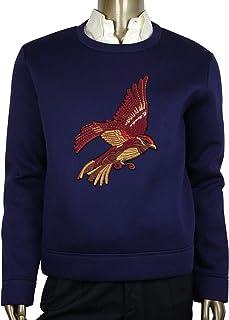 b408cb40e53 Gucci Men s Double Viscose Navy Blue Rayon Jersey Sweatshirt 408240 4185 ...