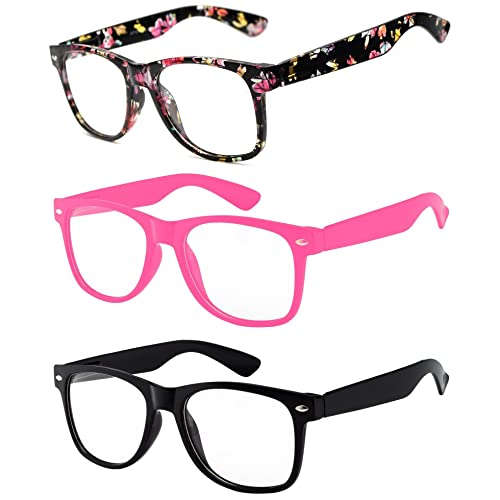 90603cf8d1 3 Pairs Kids Clear Lens Glasses Protect Child s Eyes from UVB UVA