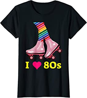 I Love 80s Rollerskates 1980s Retro Gift Women Teen Girls T-Shirt