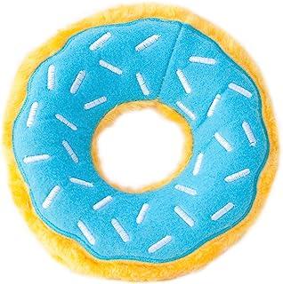 ZippyPaws - Original Donutz No Stuffing Squeaky Plush Dog Toy - Blueberry