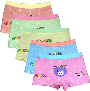 Girls Boyshort Hipster Panties Cotton Panty Underwear (5 or 6 Pack)
