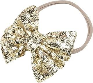 gold sequin bow headband