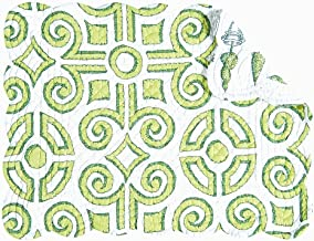 Set of 4 PCS, 13x19 Quilted Placemat, Boxwood Abby