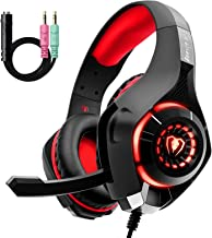 Cuffie Gaming con Microfono e Bass Stereo, Cancellazione del Rumore, Controllo del Volume per PS4 PS5 Xbox One PC Mac, Col...