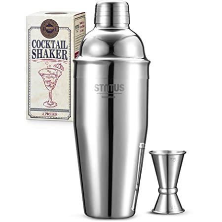 Amazon Com 24 Oz Cocktail Shaker Bartender Set By Aozita Stainless Steel Martini Shaker Mixing Spoon Muddler Measuring Jigger Liquor Pourers With Dust Caps And Manual Of Recipes Professional Bar Tools Kitchen