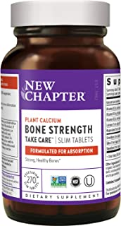 New Chapter Calcium Supplement – Bone Strength Whole Food Calcium with Vitamin K2 + D3 + Magnesium, Vegetarian, Gluten Fre...