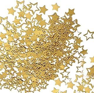 Dokpav Ghirlanda di Stelle Argento Ghirlanda di Carta Decorazione per Matrimonio Festa Natale Compleanno Bambino Docce Carta della Stella Bunting Banner 4pcs Riflettente Stelle Ghirlanda