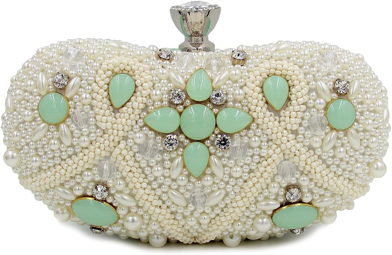 Mageleo color Beaded Nightclub Package Oval Handbag Evening Bag