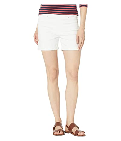 Liverpool Chloe Pull-On Shorts w/ Rolled Cuff (Bright White) Women