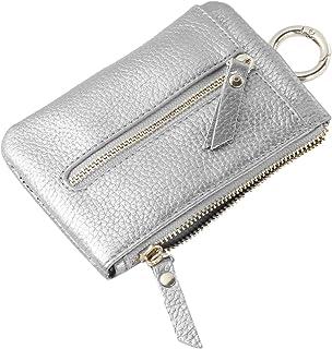 Cabilock Falso Portafoglio Chiave in Pelle Piccola Rosa Portamonete Pouch Bifold Zipper Pocket Faux Leather Card Case for ...