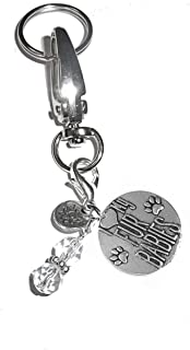 Message Charm Key Chain Ring, Women's Purse, Bag or Necklace & Bracelet Clip on Charm, Comes in a Gift Box! (I Love My Fur Babies)