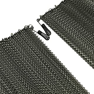 Fireplace Replacement Black Hanging Mesh Curtain Screens Two (2) Panels 23