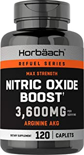 Nitric Oxide Booster 3600mg | 120 Caplets | Nitric Oxide Pills with Arginine AKG for Men and Women | Non-GMO, Gluten Free ...