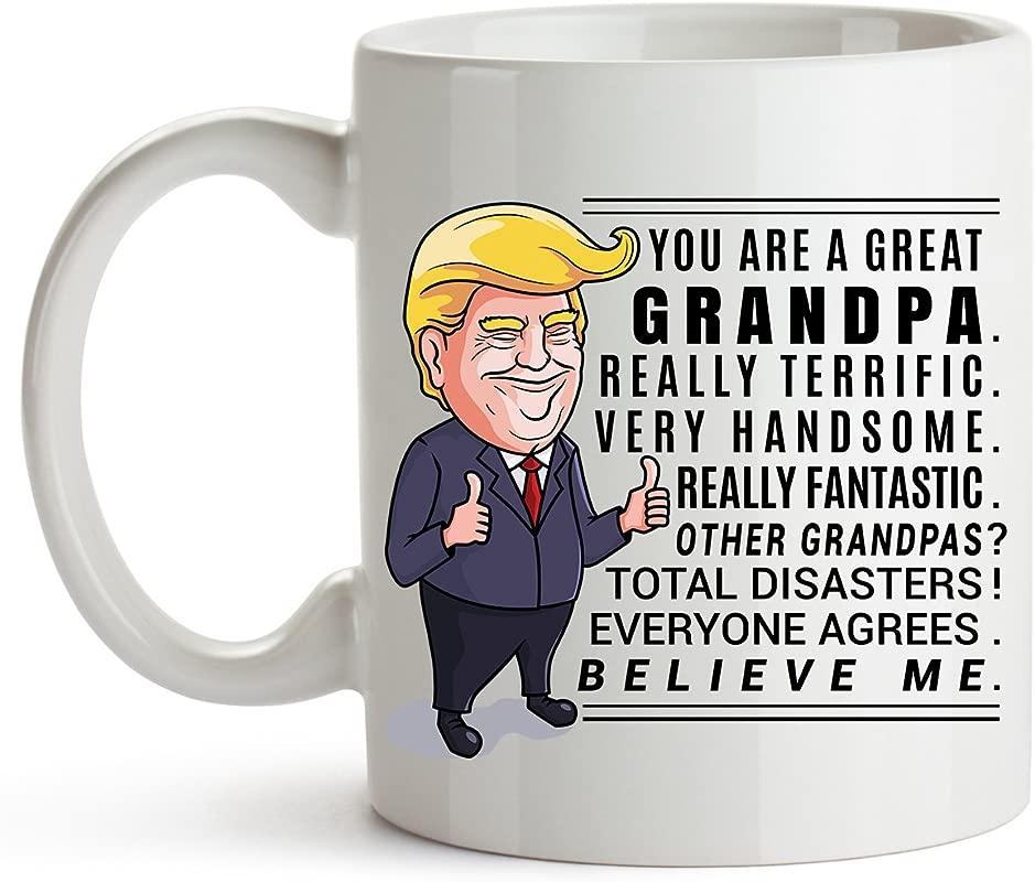 Younique Designs Trump Grandpa Mug 11 Ounces Donald Trump Coffee Mugs Best Grandpa Mug