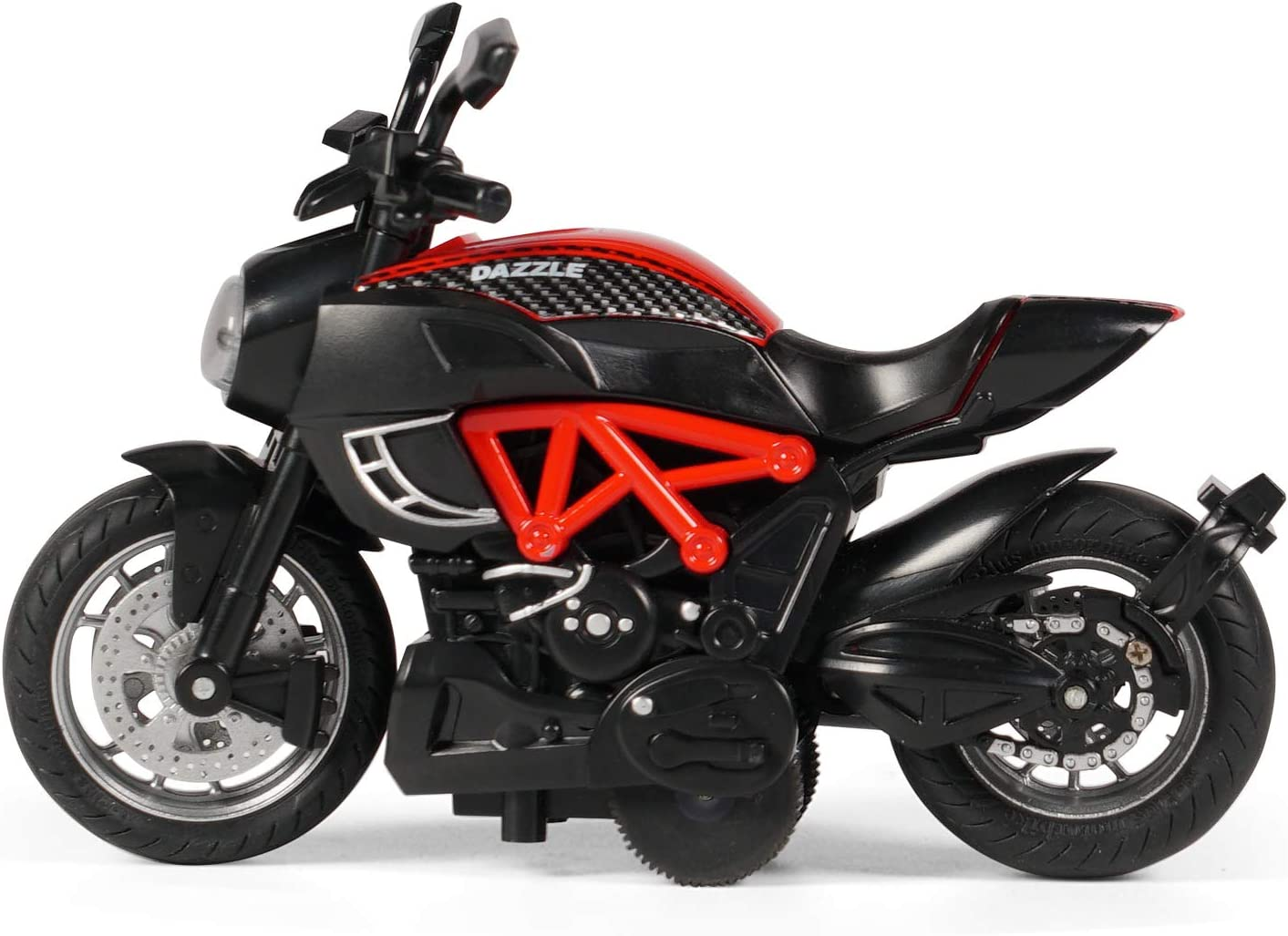 Red Motorcycle Toy for Boys Pull Back Motorcycle Toys with Sound and Light,The Best Gift for Children,Toy Motorcycles for Toddlers