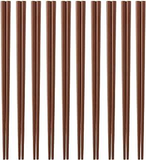 Made in Japan business for 10 Eco chopsticks set meal (dark brown) SPS resin use chopsticks ECO Dishwasher, high temperature and depot support 22.5cm x 3mm angle (chopsticks point) Eco Friendly sps resin Chopsticks (japan import)