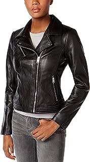 MICHAEL Michael Kors Black Leather Moto Jacket