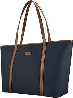 CHICECO Nylon Groß Reise Shopper Tasche Handtasche Damen - Blau und Braun