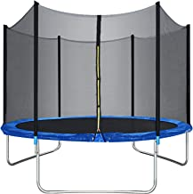 Trampoline Round Jumping Table with Safety Enclosure Net Sping Pad Combo Bounding Bed..