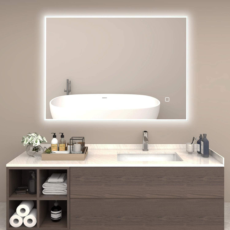 "Vikiullf Bathroom Vanity Mirror with 人気の製品 Lights Wall 32"" Mou x - 爆買い送料無料 24"""