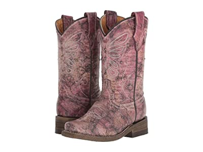 Corral Boots Kids E1259 (Toddler/Little Kid) (Pink) Cowboy Boots