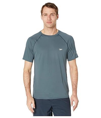 Speedo Easy Short Sleeve Swim Shirt (Granite) Men