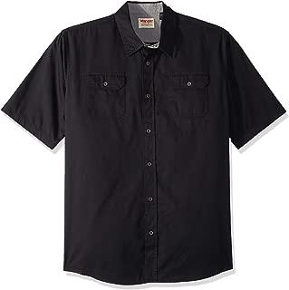 Authentics Men's Tall Size Big & Tall Short-Sleeve Classic Woven Shirt