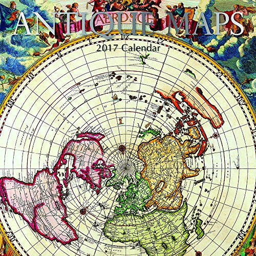 Antique Maps of the World 2017 Monthly Wall Calendar, 12