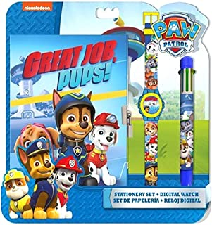 PAW PATROL - Set con Reloj, Diario y bolígrafo (Kids PW16177)