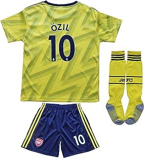 GamesDur 2019/2020 Arsenal M. Ozil 10 Away Yellow Kids Soccer Jersey Set Shirt Short Socks Youth Sizes