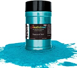 U.S. Art Supply Jewelescent Peacock Teal Mica Pearl Powder Pigment, 2 oz (57g) Shaker Bottle - Cosmetic Grade, Non-Toxic Metallic Color Dye - Paint, Epoxy, Resin, Soap, Slime Making, Makeup, Art