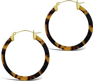 50mm Resin Hoop Earrings (in multiple styles)