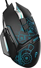 PBUER Gaming Mouse, Wired Gaming mouse, 7 Programmable Buttons, 7200 DPI Adjustable, Comfortable Grip Ergonomic Optical PC Computer Gaming Mice with Fire Button, Black