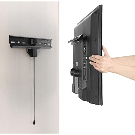 Hammer and Nails - No Stud Finding No Drilling - Heavy-Duty Tilting TV Wall Mount Bracket for 32-inch to 80-inch TVs   110 lbs Capacity