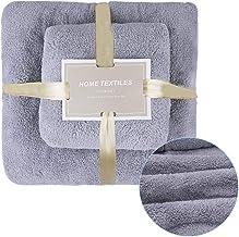 AUTOWT Juego de toallas de baño, 2 piezas toallas felpa coral súper suaves Toallas mano gruesas, absorbentes extra grandes...