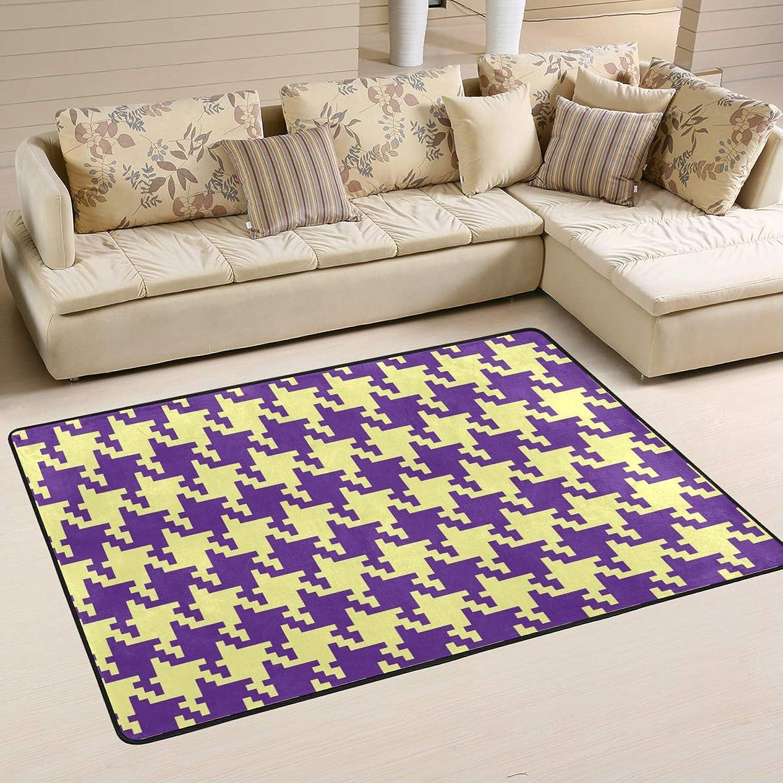 FAJRO Houndstooth Pattern mud shoes Scraper Area Rug Entry Way Doormat Multipattern Floor Mats Home Dec Anti-Slip Indoor Outdoor