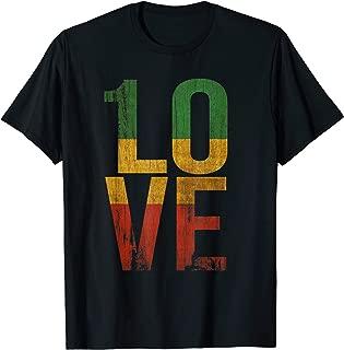 1 Love T Shirt For Roots Rock Reggae Rasta Music