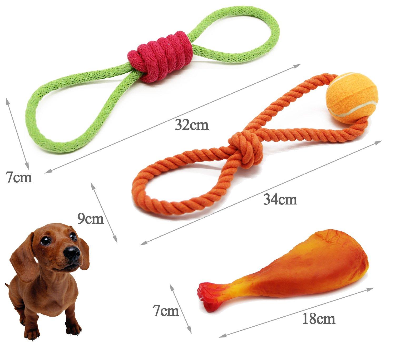 BPS® [7 in 1] Pack Juguete Interactivo para Mascotas Perros Animales Domésticos 7 Juguetes Pelota Cuerda y etc. BPS-8503 * 1: Amazon.es: Productos para mascotas
