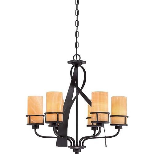 Imperial Bronze 8-Light 480 Watts 28 H x 32 W 28 H x 32 W Imperial Bronze Quoizel MRN5008IB Mirren Farmhouse Chandelier Lighting
