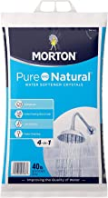 Morton U26624S Pure AND Natural Water Softening Crystals, 40-Pound
