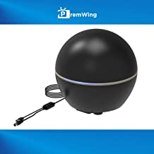 2019 [New Model] PremWing 360 Degree Converter Indoor TV Antenna Omni-Directional Reception,Support 4K UHF 1080P Local Channels with 10ft Coaxial Cable