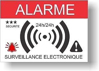 Pegatinas dissuasifs alarma–Monitoreo electrónica–Juego de 12– 148x 105cm