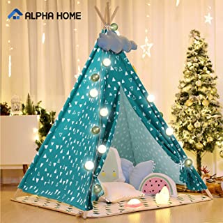 CAMPING WORLD Kids Teepee Tent Indoor Playhouse Portable Play Tent with Carry Bag