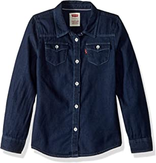 Levi's Girls' Little Long Sleeve Button Up Shirt