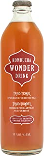 Kombucha Wonder Drink, Traditional, 14-Ounce, (Pack of 12)
