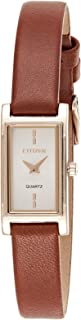 Citizen Women White Dial Leather Band Watch - EZ6368-15A
