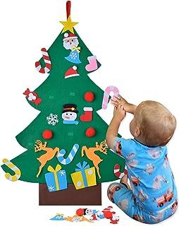 Coofit - Árbol de Navidad de fieltro para niños, 26 unidades