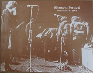 Rolling Stones Altamont Print Poster Sepia Jagger Poster 11x14 Hells Angels