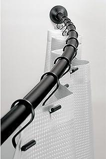 iDesign Curved Metal Shower Curtain Rod, Adjustable Customizable Curtain Rod for Bathtub,..